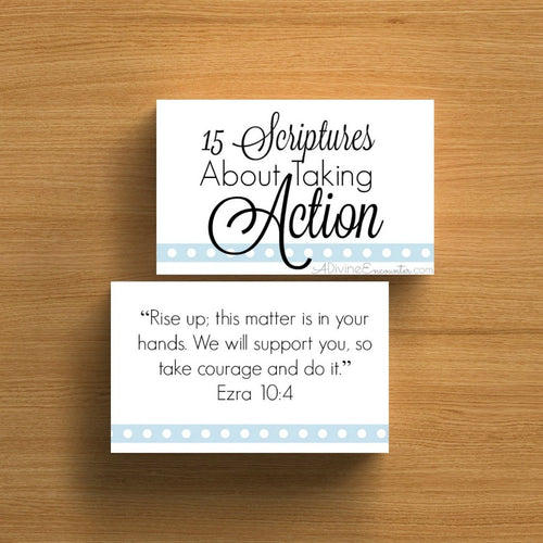 Take Action! Verse Cards and Scripture Printable