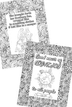 Load image into Gallery viewer, Christmas Scripture Coloring Pages (Set of 5)