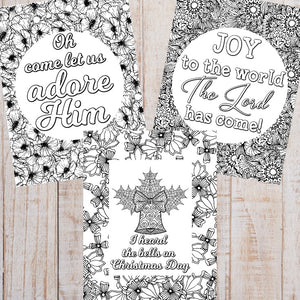 Christmas Carol Coloring Sheets (Set of 5)