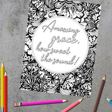 Load image into Gallery viewer, Amazing Grace Christian Hymn Coloring Page