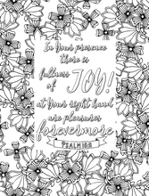 Load image into Gallery viewer, Fullness of Joy Scripture Coloring Page