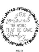 Load image into Gallery viewer, God So Loved the World Scripture Coloring Page
