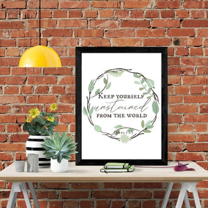 Holiness Scripture Wall Art