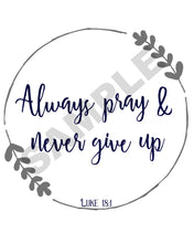 Load image into Gallery viewer, Never Give Up Scripture Wall Art
