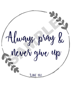 Never Give Up Scripture Wall Art
