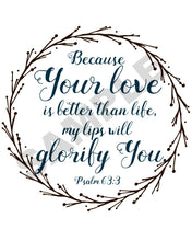 Load image into Gallery viewer, God's Love Scripture Wall Art