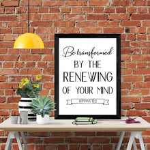 Load image into Gallery viewer, Be Transformed Scripture Wall Art