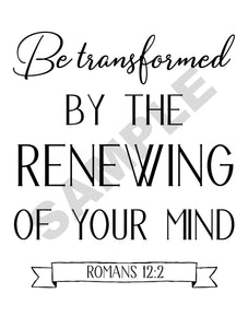 Be Transformed Scripture Wall Art