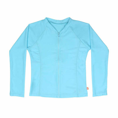 Salty Ink Girls Long Sleeve Sunvest - Ice Blue