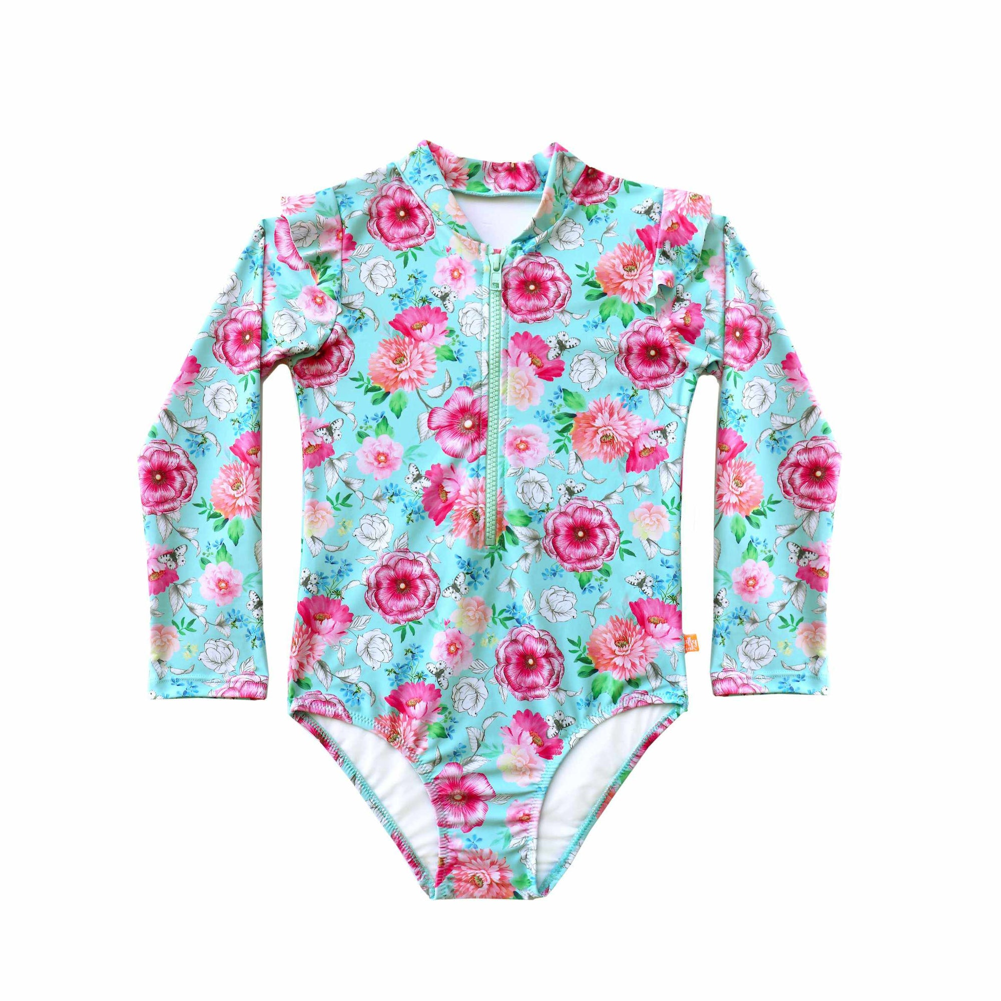 Salty Ink Little Girls Sunsuit - Miss Poppy Mint
