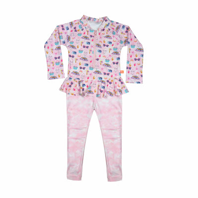 Salty Ink Little Girls Onesie - Miss Seaside