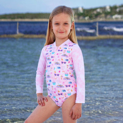 Salty Ink Little Girls Sunsuit - Miss Seaside