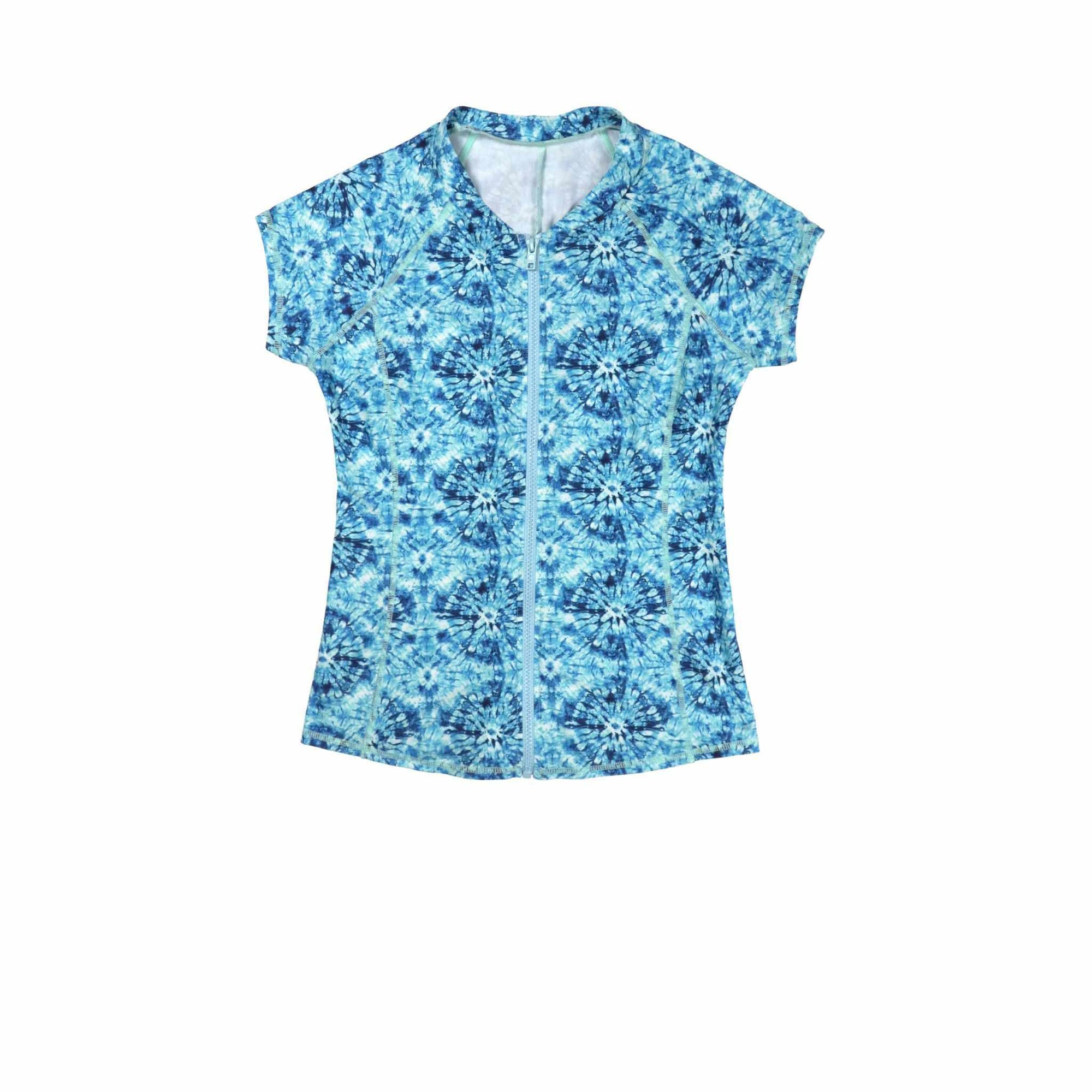 Salty Ink Short Sleeve Sunvest - Blue Lagoon