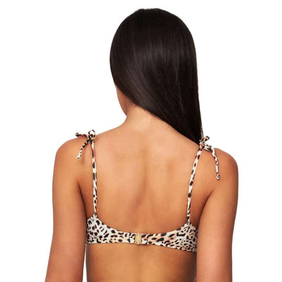 Monte & Lou Tie Shoulder Crop Top - Free Spirit