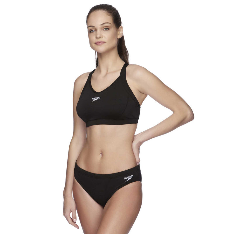 Speedo Womens D/DD Cup Crop Top - Cross Trainer