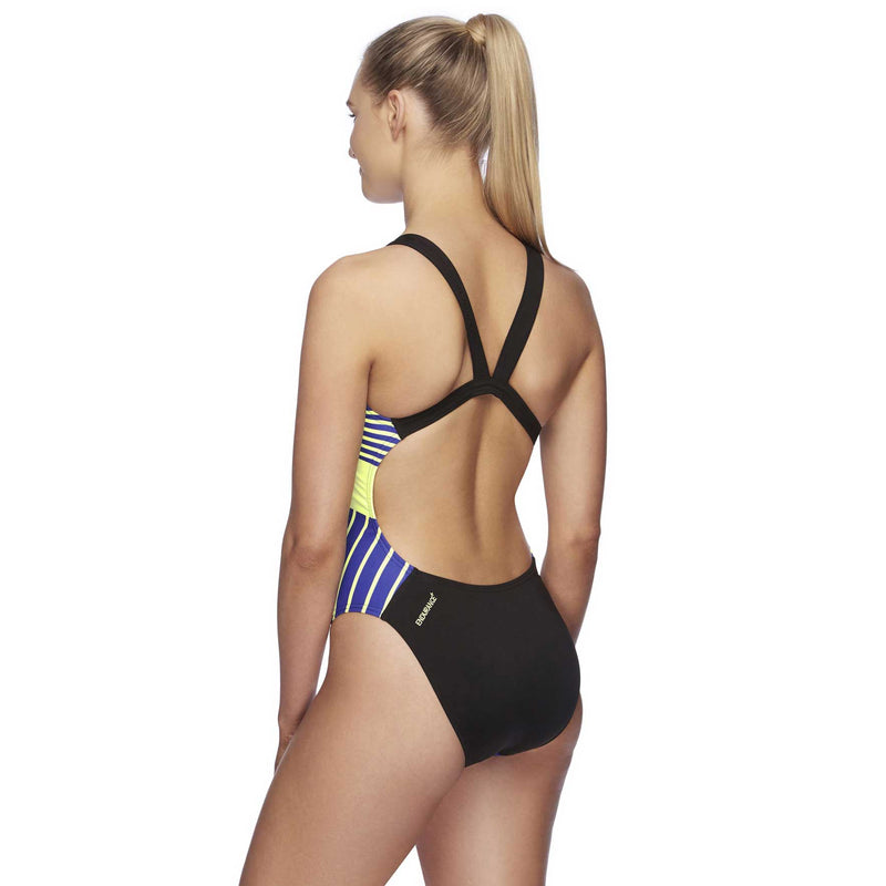 Speedo Womens High Leg Leaderback One Piece - Determination