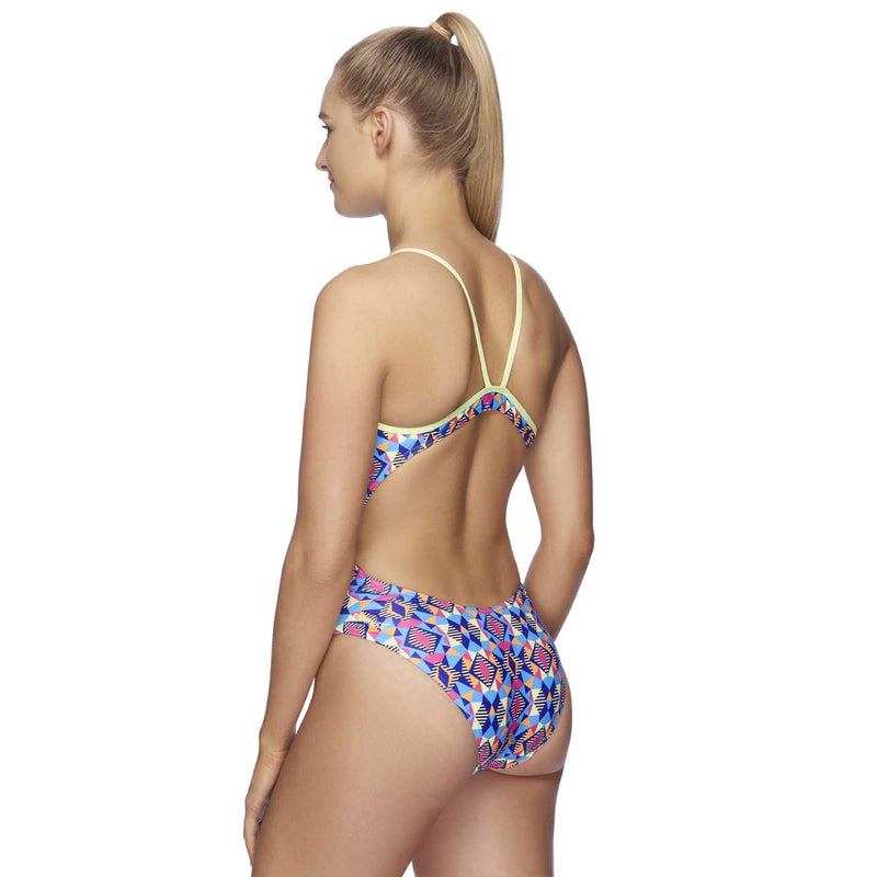 Speedo Womens High Leg One Piece - Divergent