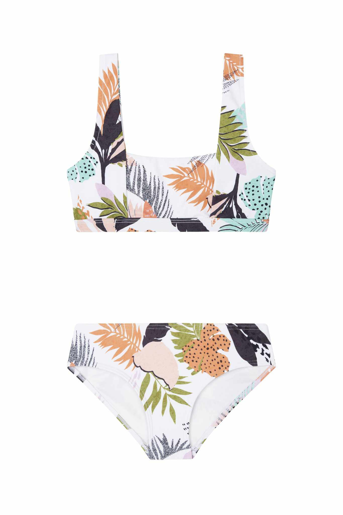 Seafolly Girls Square Neck Tankini - Tropical Punch