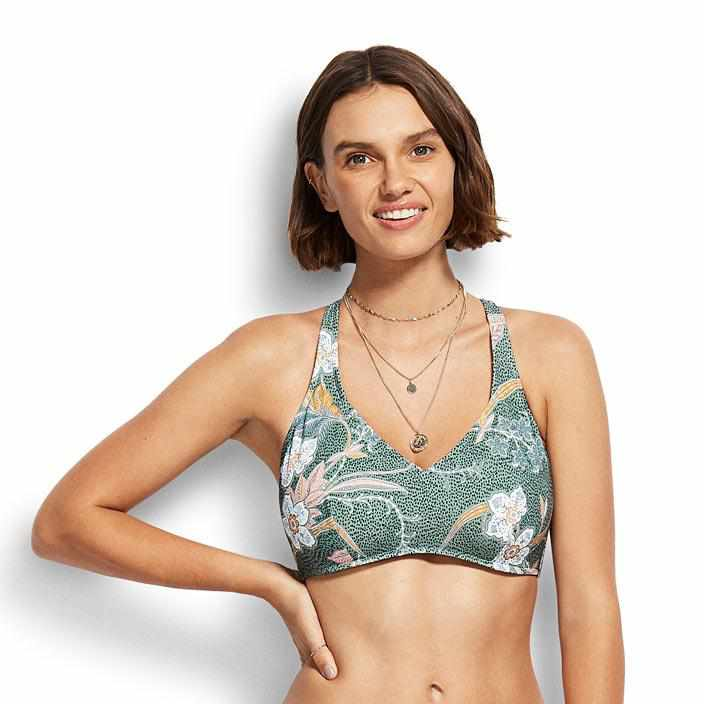 Seafolly F Cup Halter Bra - Balinese Retreat