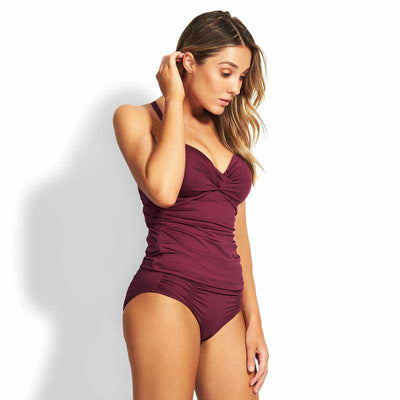Seafolly DD Twist Front Singlet - Seafolly
