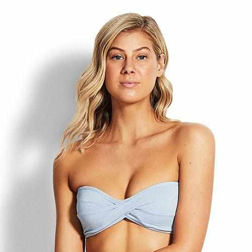 Seafolly Twist Bandeau Top - Stardust