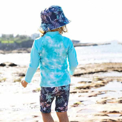 Salty Ink Boys Long Sleeve Rashvest - Castaway