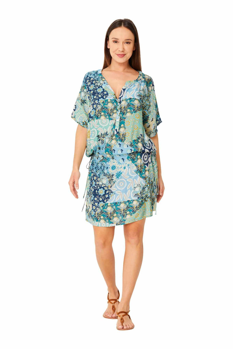 Monte & Lou Short Sleeve Shirt Dress - Boheme