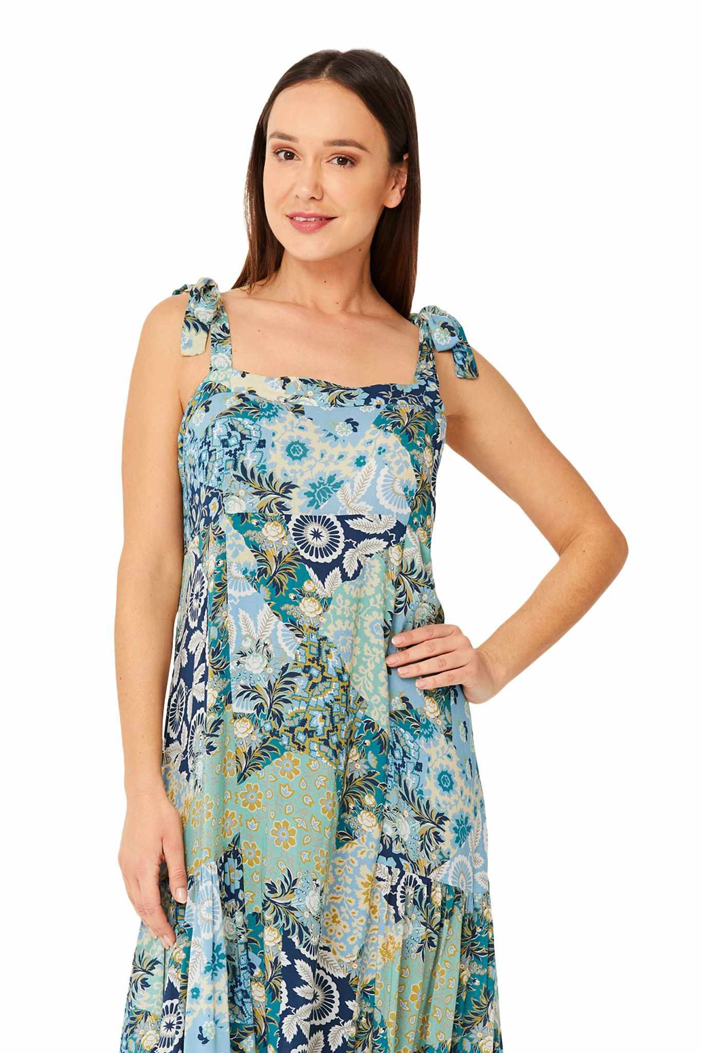 Monte & Lou Tie Shoulder Sundress - Boheme