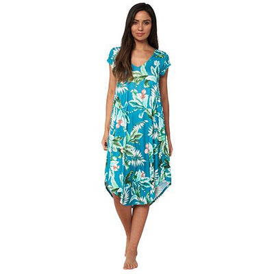 Monte & Lou Cap Sleeve Dress - Hot Tropics