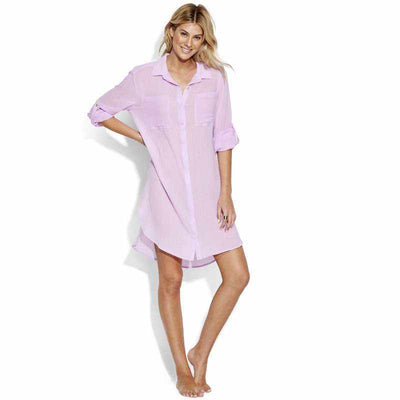 Seafolly Crinkle Twill Shirt - Beach Basics