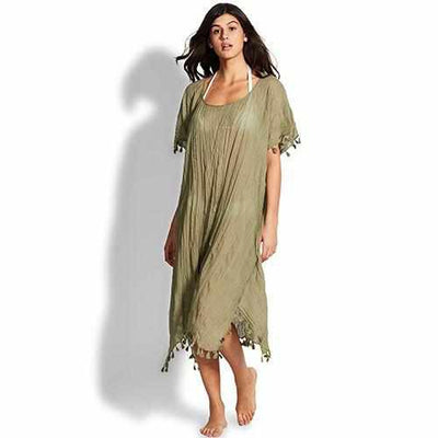 Seafolly Midi Kaftan - Beach Basics