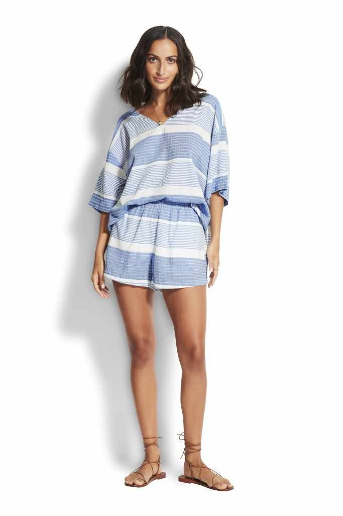 Seafolly Short - Pacific Jacquard
