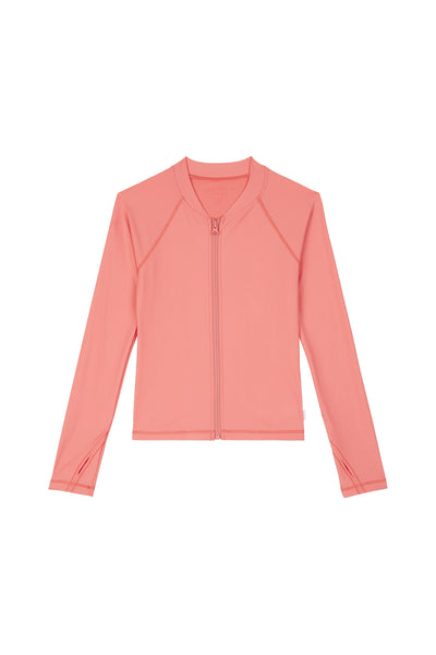 Seafolly Girls L/S Zip Front Rashie - Summer Essential