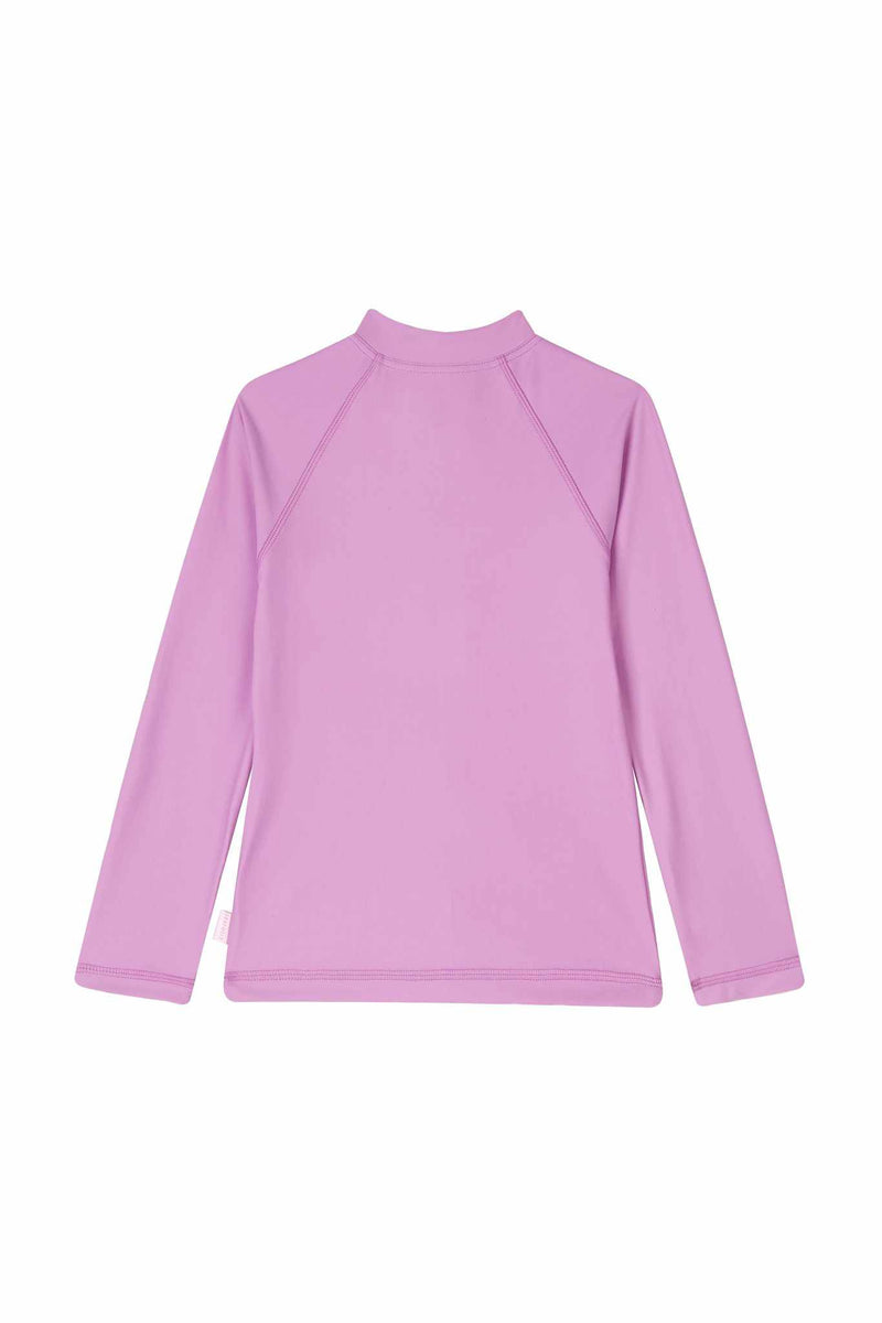 Seafolly Little Girls Long Sleeve Zip Front Rashie - Sweet Summer