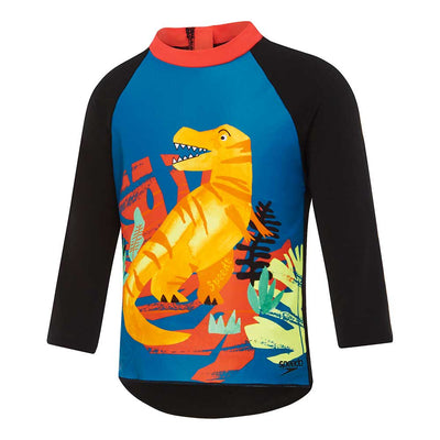 Speedo Toddler Boys Long Sleeve Rashie - Jurassic Jungle