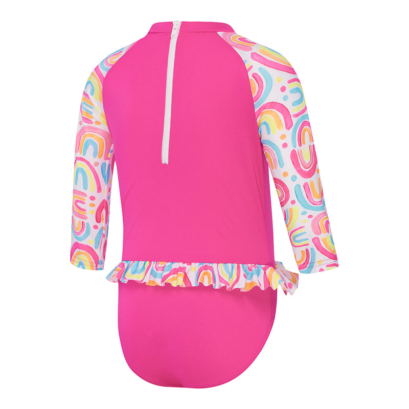 Speedo Toddler Girls Flounce Sun Suit - Chasing Rainbows