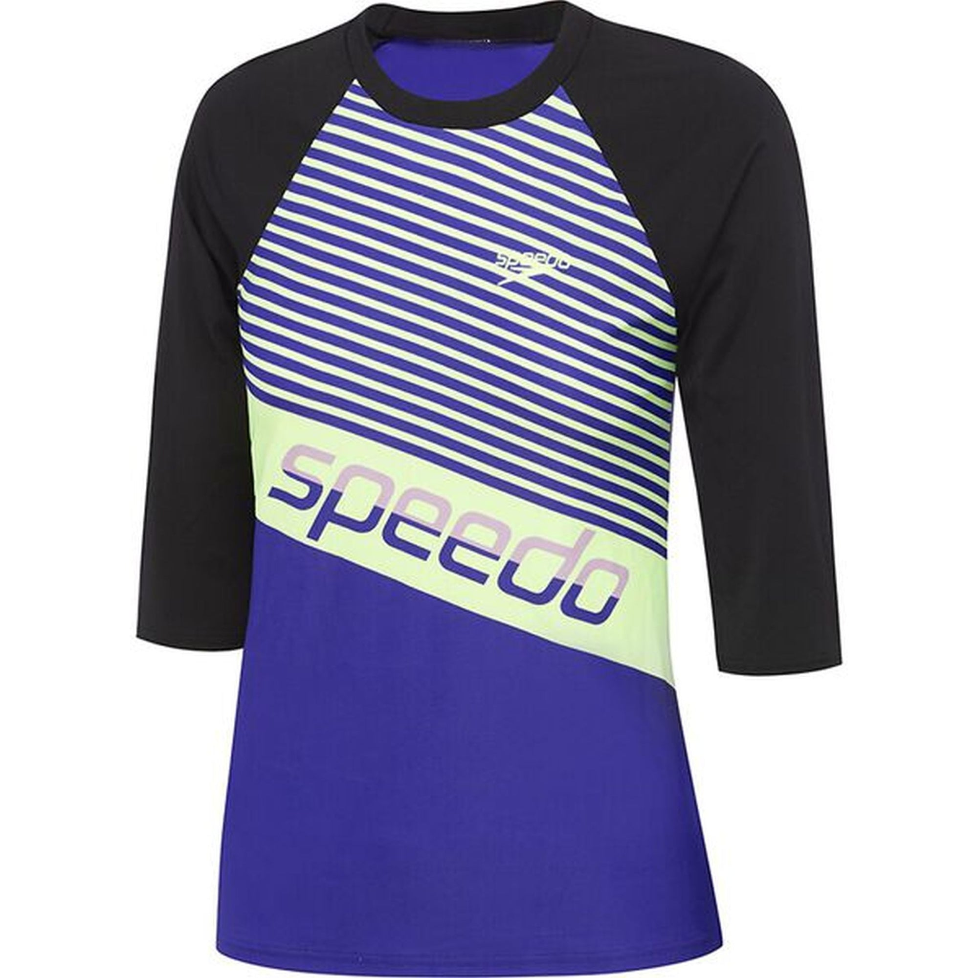 Speedo Womens Endurance 3/4 Sleeve Rashie - Geo Slice