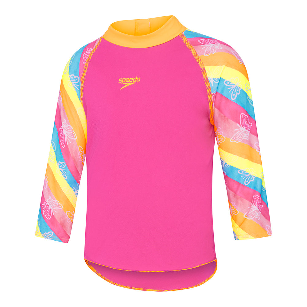 Speedo Toddler Girls Long Sleeve Rashie - Summer Bliss