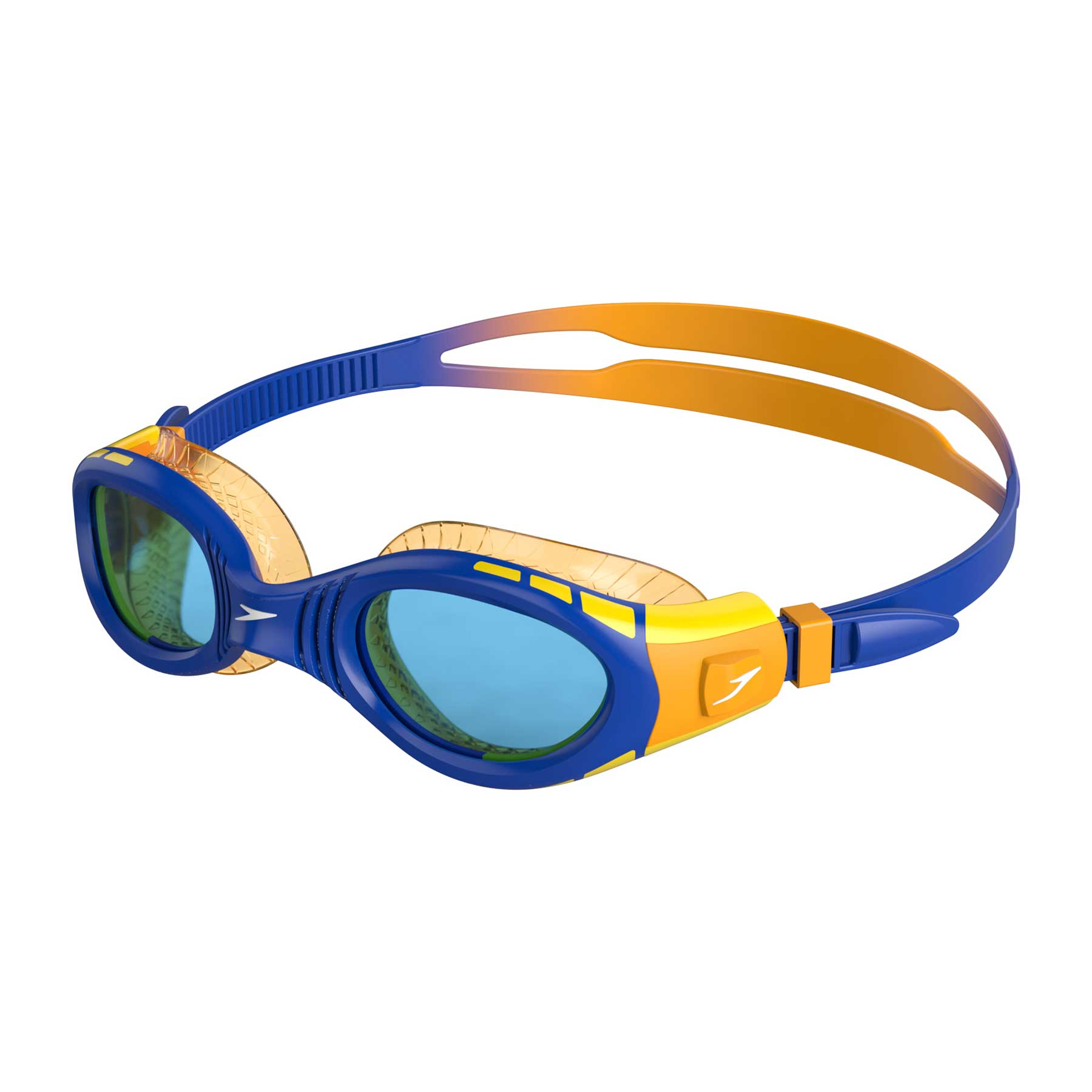 Speedo Junior Flexiseal Goggles - Blue/Mango