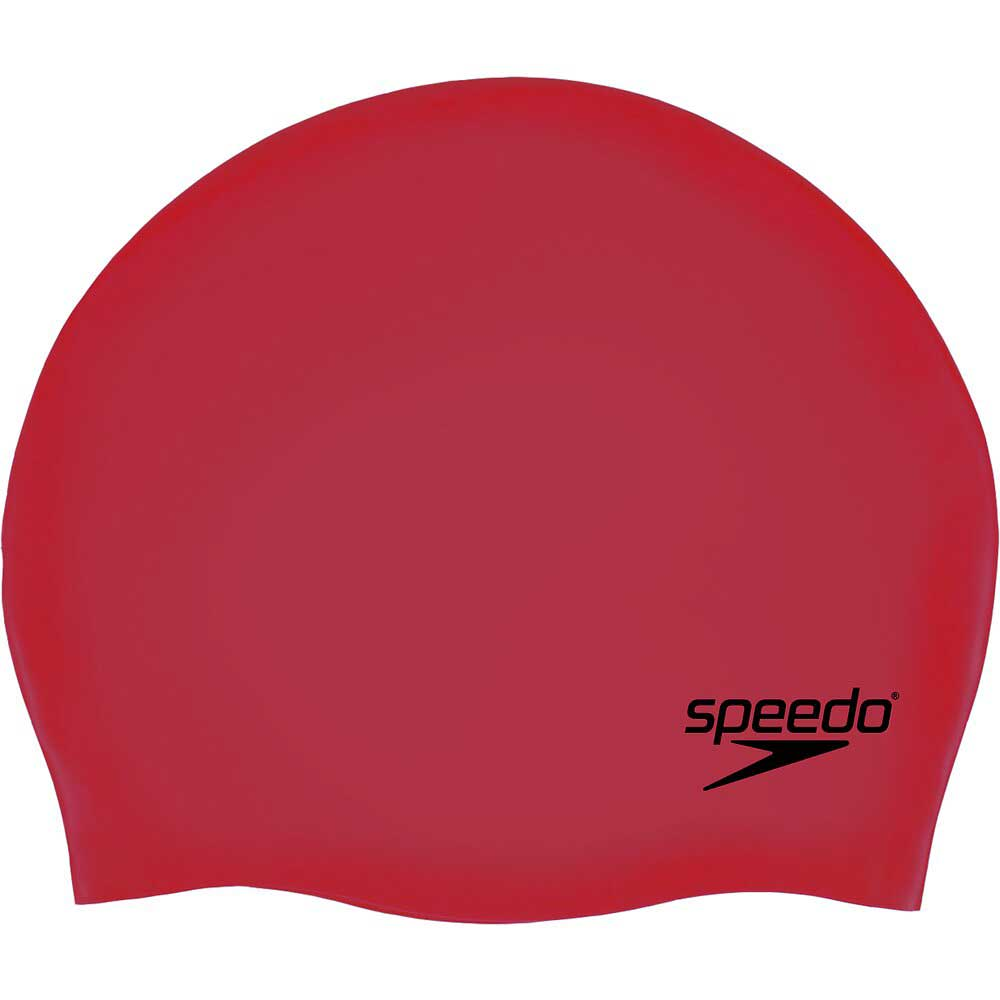 Speedo Adult Moulded Silicone Cap - Red