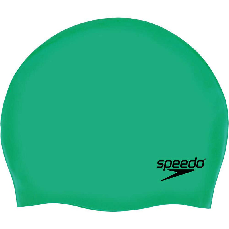 Speedo Adult Moulded Silicone Cap - Green