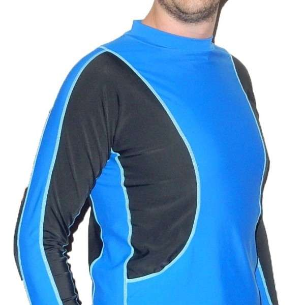 Radicool Mens Long Sleeve Rashie - Royal/Black