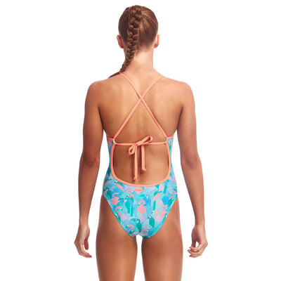Funkita Girls Tie Me Tight One Piece - Pastel Paradise