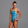 Funkita Girls Eco Diamond Back One Piece - Bird Brain
