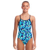Funkita Girls Diamond Back One Piece - Holy Sea