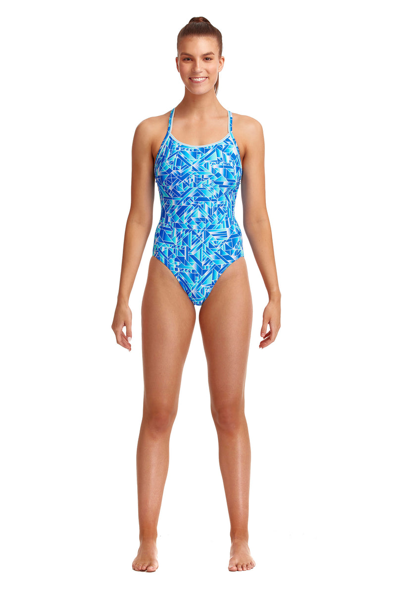Funkita Ladies Diamond Back One Piece - Pane Train