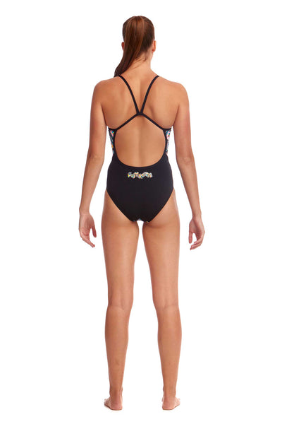 Funkita Ladies Single Strap One Piece - Abstracta