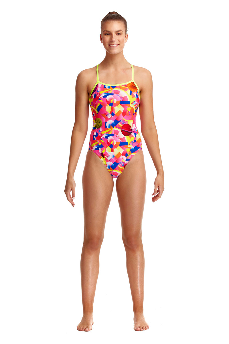 Funkita Ladies Single Strap One Piece - Pink Pluto