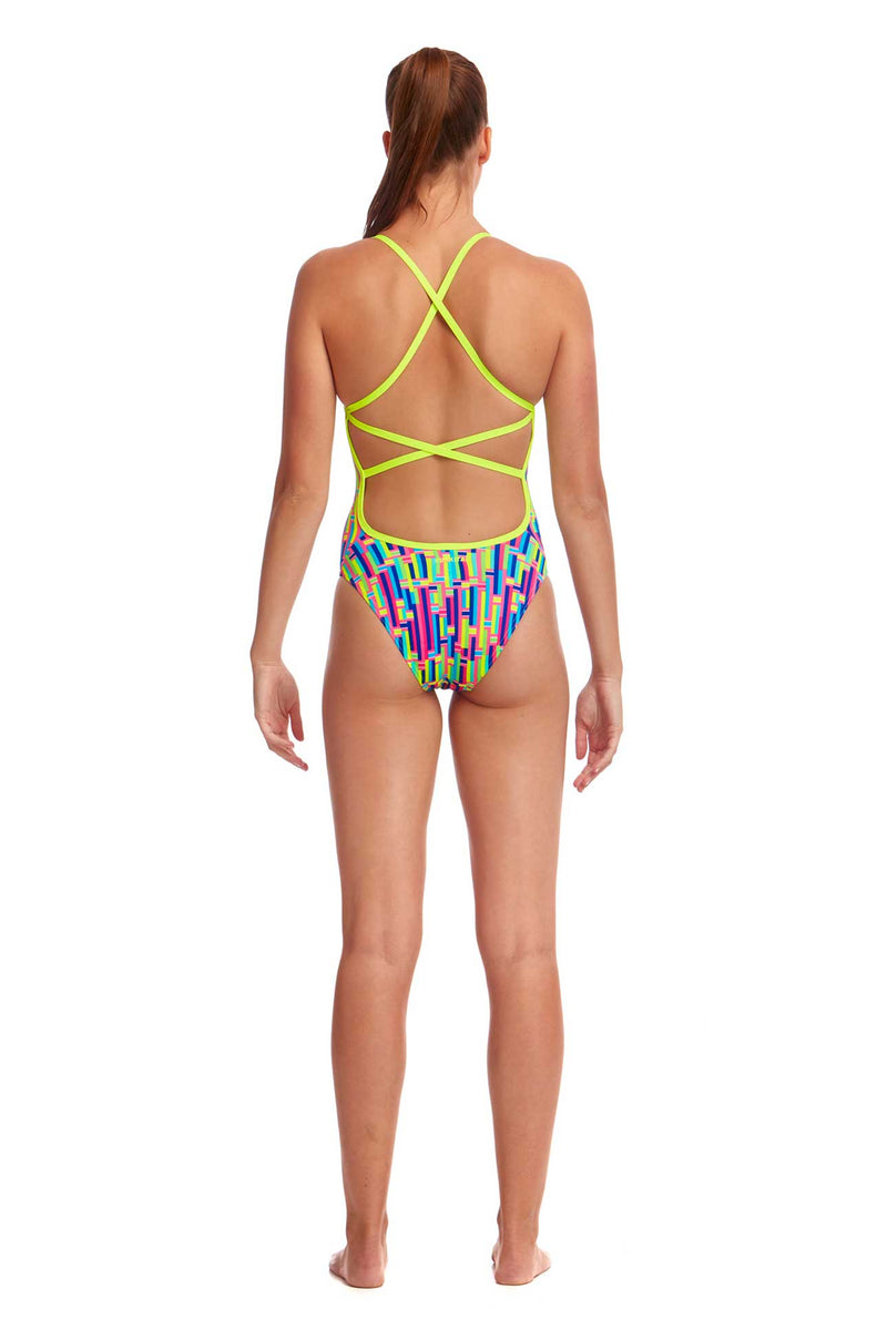 Funkita Ladies Strapped In One Piece - Mixed Signals