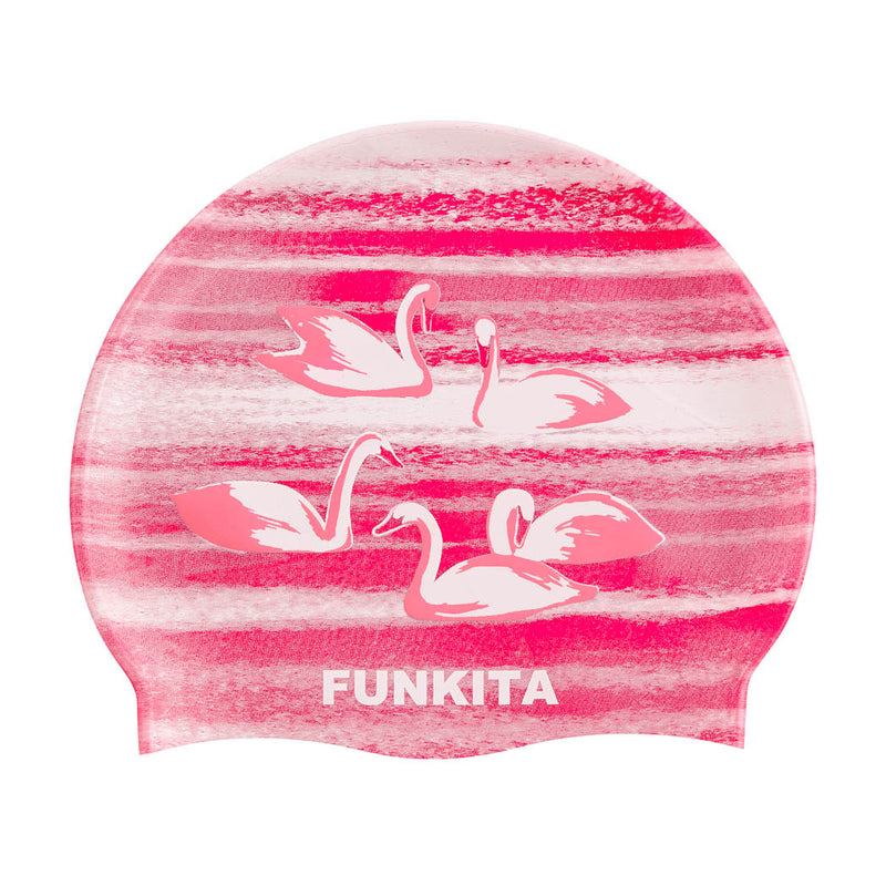 Funkita Silicone Swimming Cap - Swan Lake